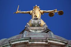 London Justice Royalty Free Stock Photo