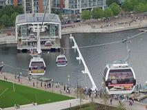 London kabelbilar Royaltyfri Bild