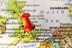 London-Kapitol von Großbritannien, Bestimmungsortkarte Lizenzfreie Stockfotos