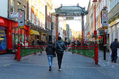 London kineskvarter Arkivfoto