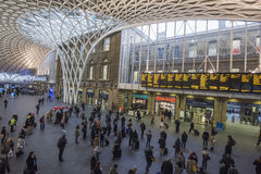 London Kings Cross station with commuters traveling to work Stock Photography