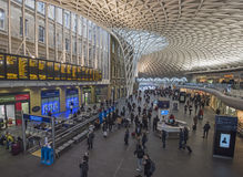 London Kings Cross station with commuters traveling to work Stock Photos