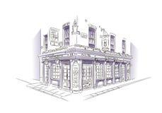 London-Kneipen-Skizze Lizenzfreies Stockfoto