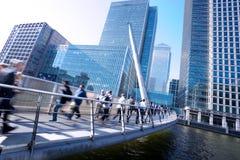 London kontorsbuinesss som bygger rörelse i rusningstid Fotografering för Bildbyråer