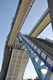 London-Kontrollturm-Brücke Stockfoto