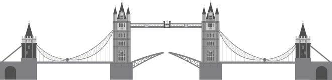 London-Kontrollturm-Brücken-Abbildung Lizenzfreie Stockbilder