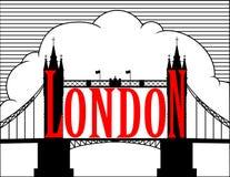 London. Kontrollturmbrücke. Stockfoto