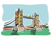 London (Kontrollturmbrücke) Lizenzfreie Stockfotografie