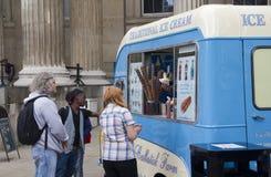 london kremowy lodowy samochód dostawczy Obraz Stock