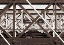 London-Kreuz stockbild
