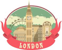 London Label Stock Photography