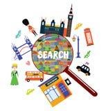 London landmark searching concept Stock Image