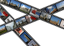 London landmarks. Illustration - film strips with travel photos. London in England, United Kingdom. All photos taken by me Royalty Free Stock Photos
