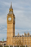 London landmarks. Big Ben and phone booths in London Stock Image