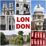 London landmarks collage Royalty Free Stock Photography