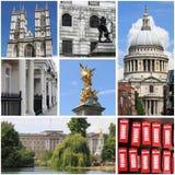 London landmarks collage Stock Photo