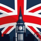 London landmarks design royalty free illustration