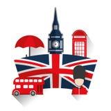 London landmarks design stock illustration