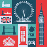 London Landmarks design Stock Image