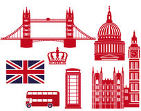 London landmarks graphics Stock Photography