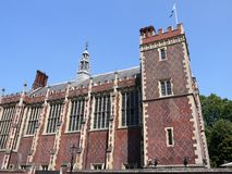 London landmarks: Lincoln's Inn Great Hall. Lincoln's Inn Great Hall, London, one of the four Inns of Court (professional barristers associations royalty free stock images