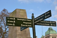 London landmarks directions signpost Stock Images