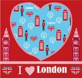 London landmarks symbols card Royalty Free Stock Images