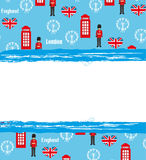London landmarks symbols frame Stock Photos
