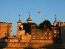 London landmarks: Tower of London at sunset royalty free stock photography