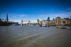 London landmarks viewed from the River Thames Stock Photography