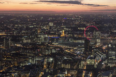 London landscape at night Royalty Free Stock Image