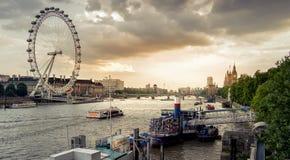 London landscape at sunset Stock Images