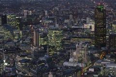 London landskap på natten Arkivbild