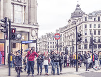 London leaving the Oxford Circus Station in London. Stock Photography