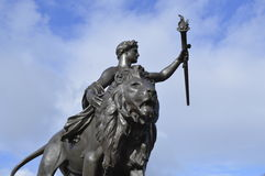 London Lion in the sky Royalty Free Stock Photos