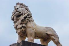London Lion. Statue of a lion taken in downtown London Stock Photos