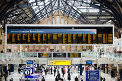 London Liverpool Street station on April 17 Royalty Free Stock Photo