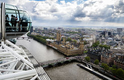 London from the London Eye. View of London from the London Eye Stock Photos