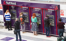 LONDON,LONDON, UK - SEPTEMBER 12, 2015: Liverpool street train station with lots of people Royalty Free Stock Photography