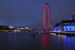 London londoneye lights night long exposure. Rolls Royce badge budgies exclusive car supercar lady Stock Photos