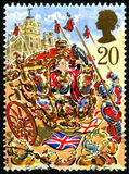 London Lord Mayors Festival UK portostämpel Royaltyfria Foton