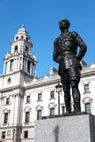LONDON - 13. MÄRZ: Statue von Jan Christian Smuts im Parlament Quadrat Lizenzfreie Stockfotografie