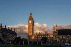 A London main sights. Westminster Parlament and Big Ben. Stock Photos