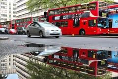 London dubbel däckare Arkivfoton