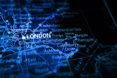 London on map vector illustration