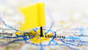 London on a map Royalty Free Stock Image
