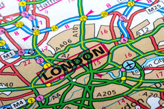 London map Royalty Free Stock Photos