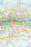 London map Royalty Free Stock Images