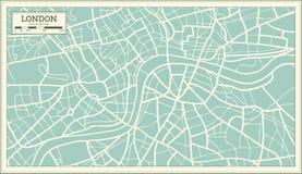 London Map in Retro Style. vector illustration