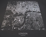London map satellite view Stock Images